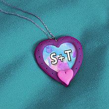 Náhrdelníky - Prívesok pre zamilovaných 1 - 7685763_