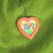 Náhrdelníky - Prívesok pre zamilovaných - 7686176_