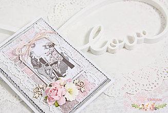 Papiernictvo - Scrapbooková pohľadnica X - 7689122_