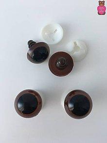 Komponenty - Bezpečnostné oči (pár)- hnedé 18mm - 7689694_