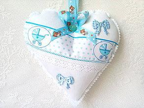 Detské doplnky - Heart for a little boy - 7689179_