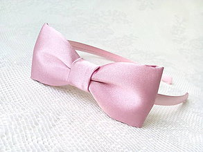 Ozdoby do vlasov - Mini Pin Up headband (vintage pink) - 7689278_
