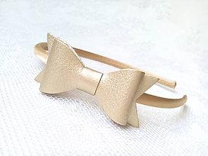 Ozdoby do vlasov - Golden bow headband - 7689453_