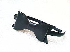 Ozdoby do vlasov - Black bow headband - 7689459_