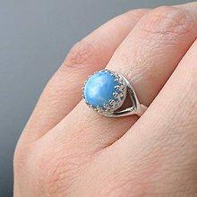 Prstene - Natural Larimar Ring & Silver Ag 925 / Strieborný prsteň s prírodným larimarom - 7686756_