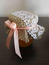 Darčeky pre svadobčanov - Čipkové svadobné medíky - 7689280_