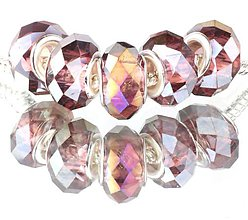 Korálky - Sklenená brúsená korálka na náramok PANDORA - purpur AB - 7687374_