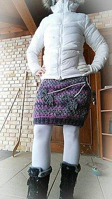 Sukne - Sukňa háčkovaná-zimná - 7688003_