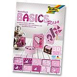 Papier - Motívový blok BASICS - ružová - 7689257_