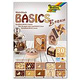 Papier - Motívový blok BASICS - hnedá - 7689271_