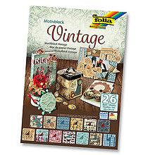 Papier - Motívový blok - VINTAGE - 7689085_
