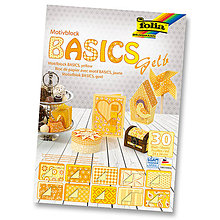 Papier - Motívový blok BASICS - žltá - 7689203_