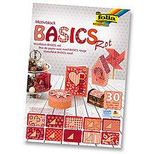 Papier - Motívový blok BASICS - červená - 7689250_