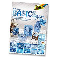 Papier - Motívový blok BASICS - modrá - 7689259_