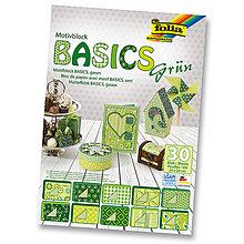 Papier - Motívový blok BASICS - zelená - 7689268_