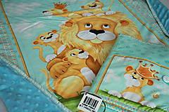 Set deka a obal na plienky lev