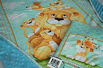 Textil - Set deka a obal na plienky lev - 7687888_