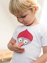 Detské oblečenie - body ĎATEĽ (dlhý/krátky rukáv) - 7688648_