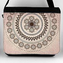 Iné tašky - Taška na plece XL hnedý ornament 21 - 7688919_