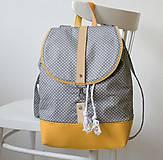 Batohy - Batoh (šedo-žltý bodkovaný) - 7686803_
