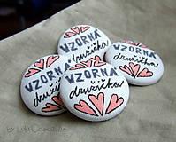 Darčeky pre svadobčanov - Hlavný DRUŽBA 4 cm - 7688535_