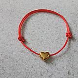 Náramky - Červený náramok - 7688760_