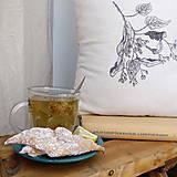 Úžitkový textil - Vankúš s ručnou perokresbou - lipa - 7688732_