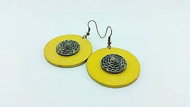Náušnice - Žlté kruhy - 7690023_