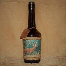 Nádoby - Fľaša pre lovca Jeleň v ruji - 7686785_