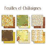 Papier - PS115 Set 6 obojstranných papierov 30,5 x30,5 cm 180g/m² kolekcia  Listy a príroda - 7687079_