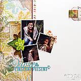 Papier - PS115 Set 6 obojstranných papierov 30,5 x30,5 cm 180g/m² kolekcia  Listy a príroda - 7687080_