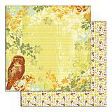 Papier - PS115 Set 6 obojstranných papierov 30,5 x30,5 cm 180g/m² kolekcia  Listy a príroda - 7687084_