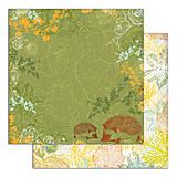 Papier - PS115 Set 6 obojstranných papierov 30,5 x30,5 cm 180g/m² kolekcia  Listy a príroda - 7687086_