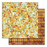 Papier - PS115 Set 6 obojstranných papierov 30,5 x30,5 cm 180g/m² kolekcia  Listy a príroda - 7687087_