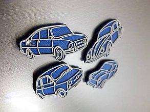 Magnetky - Sada retro magnetek - autíčka - 7688984_