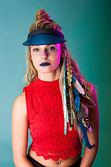 Ozdoby do vlasov - Bohatý modrý vlasový hairclip - 7690482_