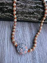 Náhrdelníky - Prírodný náhrdelník mramor č.682 - Akcia - 7688106_