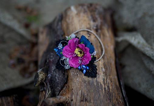 """Kvetinová gumička do vlasov """"chladný večer"""""""