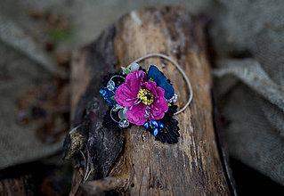 """Ozdoby do vlasov - Kvetinová gumička do vlasov """"chladný večer"""" - 7687700_"""