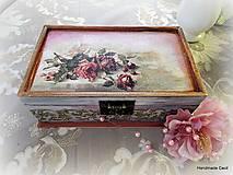 Krabičky - Šperkovníčka so zrkadlom - 7688981_