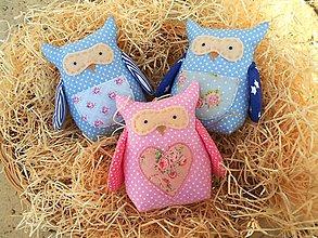 Darčeky pre svadobčanov - Chcem Ťa potešiť..., textilná sovička - 7688695_