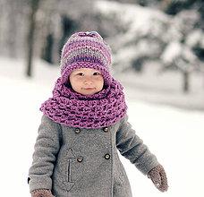 Detské čiapky - Sněhová královna - čepice Ametystová - 7687662_