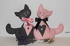 - Mačičky do okna - čierna a ružová - 7686910_