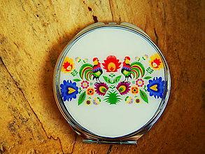 Zrkadielka - Guľaté zrkadielko s kohútikmi - 7687166_