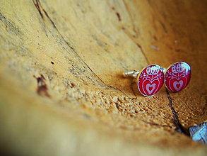 Šperky - Červené folklórne manžetky - 7687187_