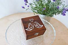 Svadobná krabička orechová