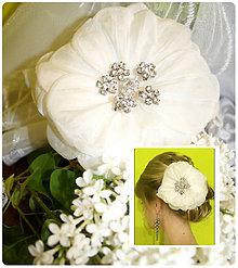 Ozdoby do vlasov - Svadobny kvet do vlasov \