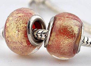 Korálky - Elegantná korálka na náramok PANDORA - Benátsky štuk - 7691437_