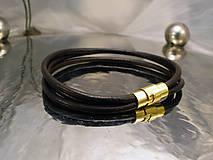 Šperky - bionet brown - trojitý hladký - 7694006_