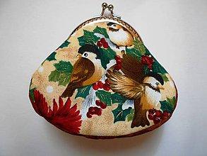 Peňaženky - Peňaženka s vtáčikmi - 7694378_